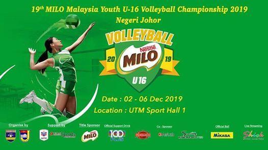 19th MILO Malaysia Youth U-16 Volleyball Championship 2019