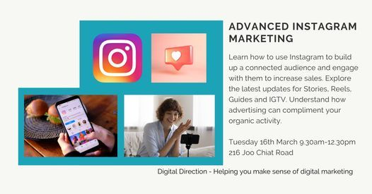 Advanced Instagram marketing, 16 March | Event in Singapore | AllEvents.in