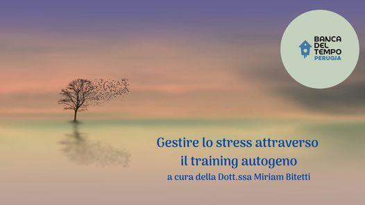 Gestire lo stress attraverso il training autogeno, 5 November   Event in Perugia   AllEvents.in