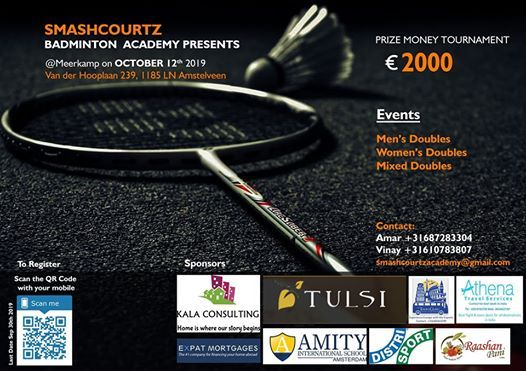 Smashcourtz Badminton Doubles Tournament 2019