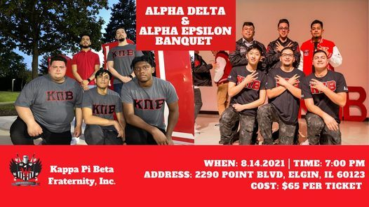 Alpha Delta & Alpha Epsilon Banquet, 14 August | Event in Elgin | AllEvents.in