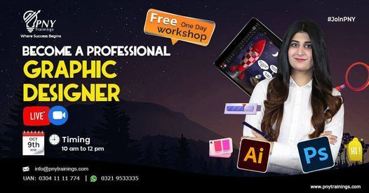 Free One Day Workshop on Become a Professional Graphic Designer, 9 October | Event in Lahore | AllEvents.in