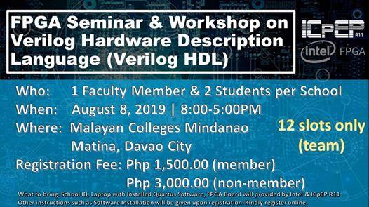 FPGA Seminar & Workshop on Verilog Hardware Description Language at