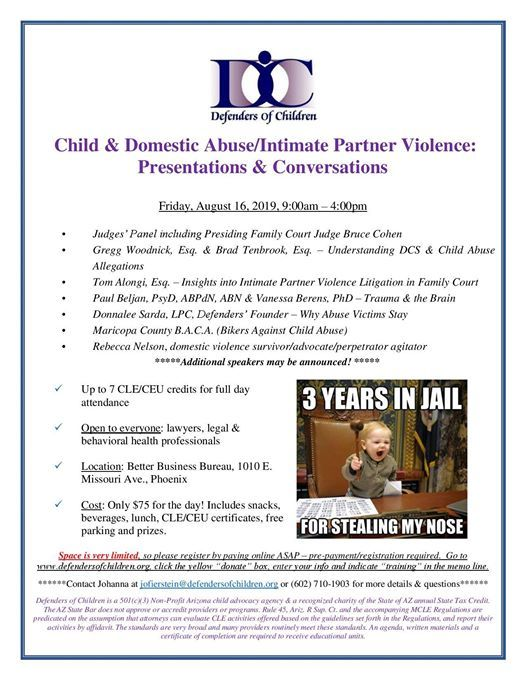 Child Abuse & Intimate Partner Violence Training 81619
