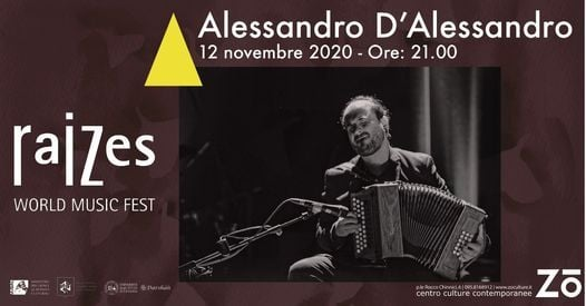 Alessandro D'Alessandro - Raizes – World Music Fest, 12 November | Event in Catania | AllEvents.in