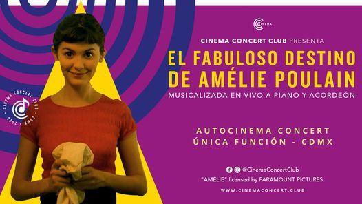 """Autocinema Concert: """"El Fabuloso Destino De Amélie Poulain a Piano y Acordeón"""", 15 January   AllEvents.in"""