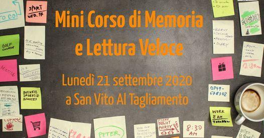 Mini Corso di Memoria e Lettura Veloce