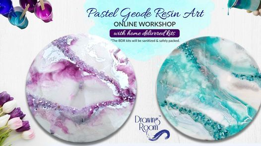 Pastel Geode Resin Art Online Workshop with Home Delivered Kits, 22 May | Online Event | AllEvents.in
