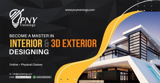 Become a Master in Interior and 3D Exterior Designing, 13 November | Event in Lahore | AllEvents.in