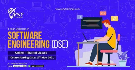 1 year Diploma in Software Engineering (DSE) NEW, 17 May   Event in Lahore   AllEvents.in