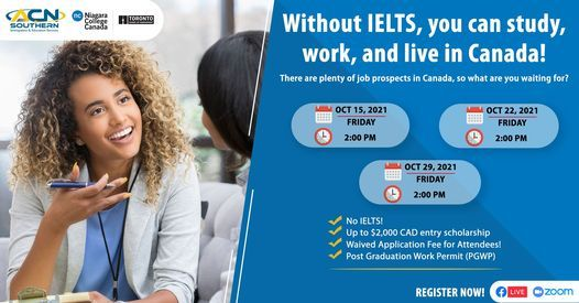 Without IELTS, you can Study, Work, and Live in Canada! | Online Event | AllEvents.in