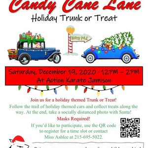 Action Karate Holiday Trunk or Treat down Candy Cane Lane