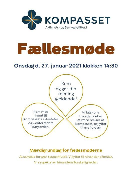 Fællesmøde i Kompasset, 24 March | Event in Herlev | AllEvents.in