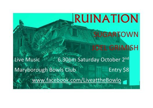 Live at the Bowlo, 2 October   Event in Maryborough   AllEvents.in