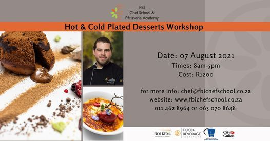 Hot & Cold Desserts Workshop, 7 August   Event in Roodepoort   AllEvents.in