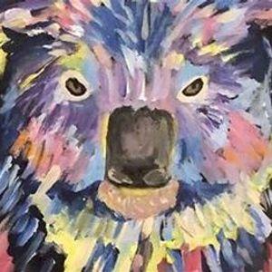 Paint & Sip Abstract Koala - Fundraising Event for Koala Hospital in AU