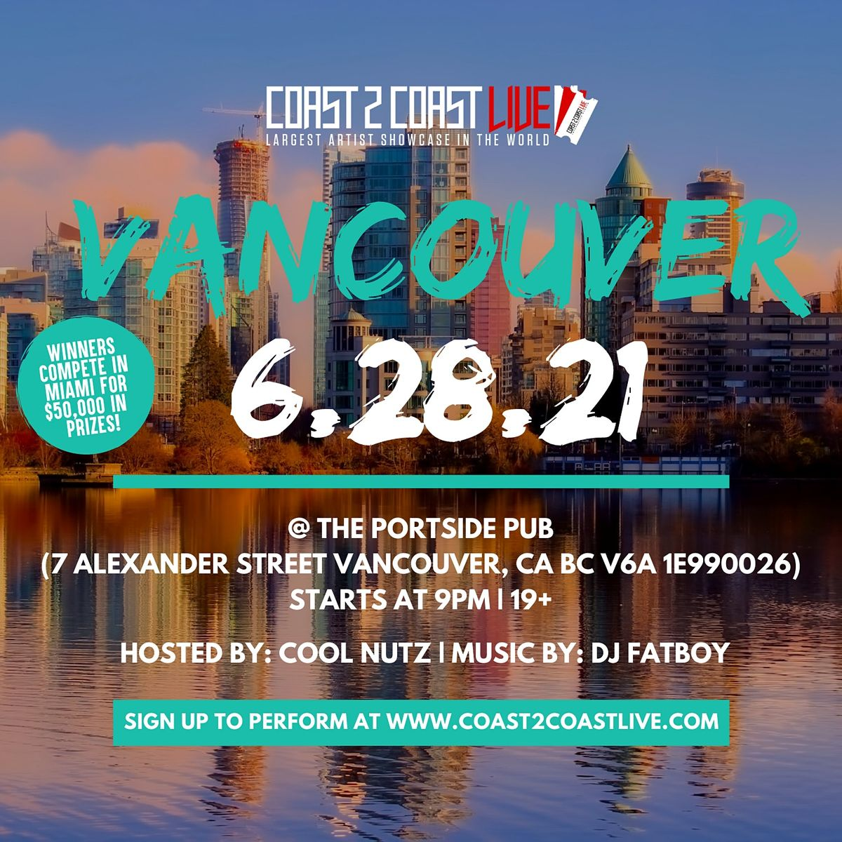 Coast 2 Coast LIVE Showcase Vancouver - Artists Win $50K In Prizes, 1 March | Event in VANCOUVER | AllEvents.in