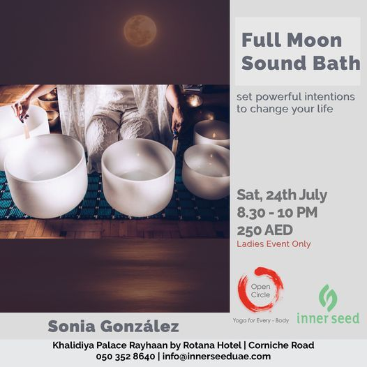 Full Moon Sound Bath, 24 July | Event in Abu Dhabi | AllEvents.in