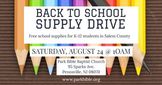 Back to School Supply Drive at Park Bible Baptist Church
