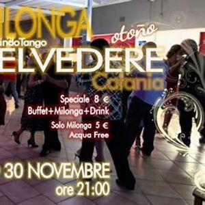 Milonga Belvedere - Sabato 30 Novembre - MuyLindoTango