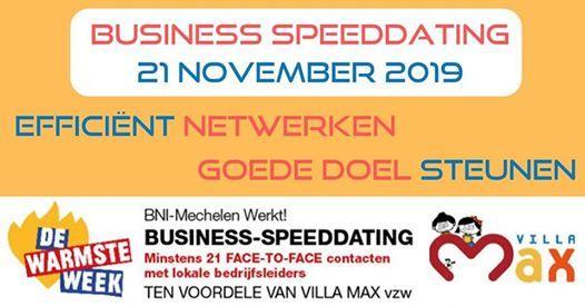 Business speeddating - 21 november 2019