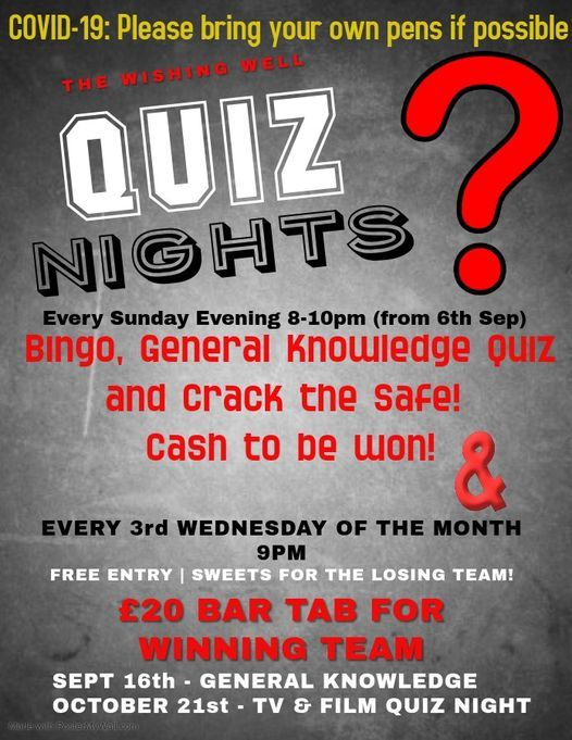 Sunday Night Quiz Night, 29 November | Event in Bristol | AllEvents.in