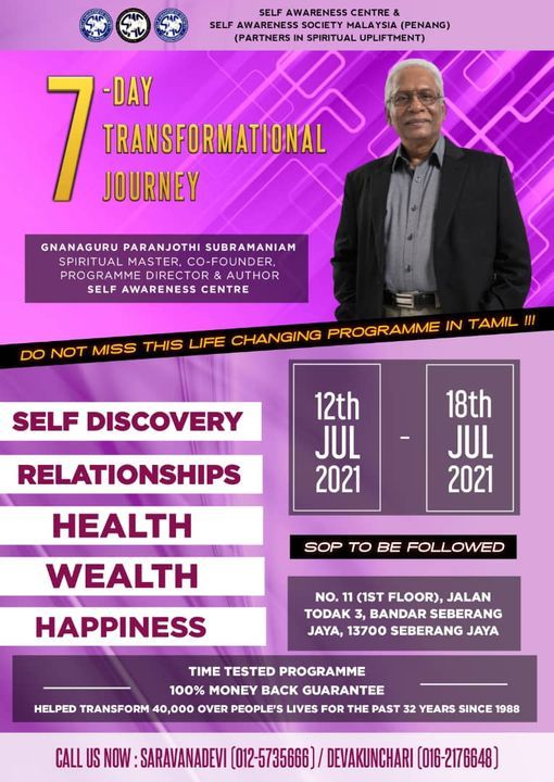 7 DAY TRANSFORMATIONAL JOURNEY, 11 July   Event in Penang   AllEvents.in