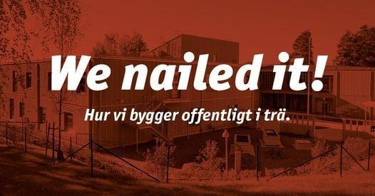 We nailed it! - Hur vi bygger offentligt i trä, 2 December | Event in Falun | AllEvents.in