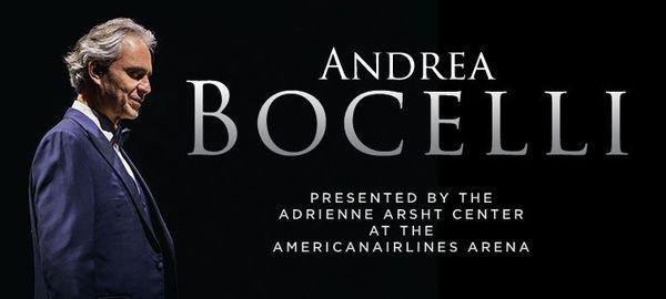 Andrea Bocelli in Concert, 18 December   Event in Miami   AllEvents.in