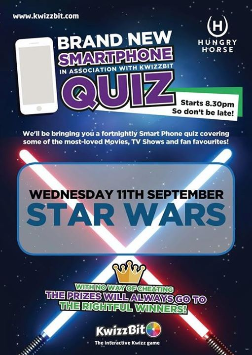 Star Wars - Smartphone Quiz at Hungry Horse, Cardiff