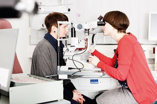 Spaltlampe und vorderer Augenabschnitt fr jede Refraktion