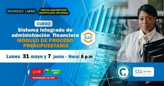 Curso Gratuito: SIAF - Modulo de Proceso Presupuestario, 31 May | Event in Lince | AllEvents.in