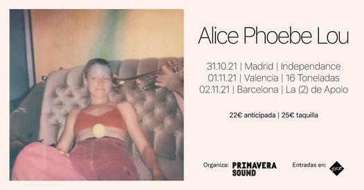 Alice Phoebe Lou en Barcelona, 2 November | Event in Barcelona | AllEvents.in