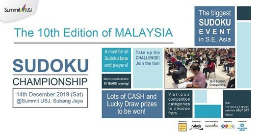 The 10th Edition of Malaysia Sudoku Championship