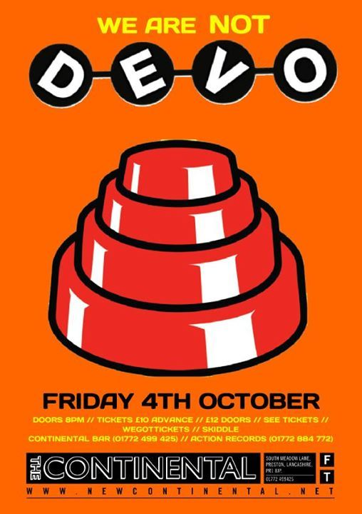 We Are Not DEVO at New Continental, Preston