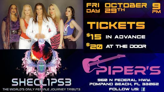 Sheclipse - All Female Journey Tribute Band at Piper's, 29 October   Event in West Palm Beach   AllEvents.in