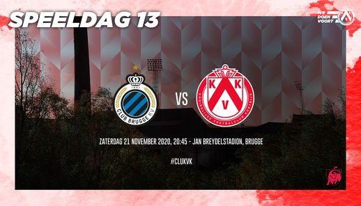 JPL Club Brugge KV Kortrijk Jan Breydelstadion Brugge November