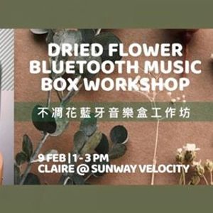 Dried Flower Bluetooth Music Box