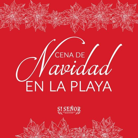 Cena de Navidad en la playa   Christmas Dinner on the beach, Playa