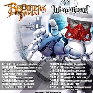 ORDEN OGAN - FINAL DAYS TOUR  Brothers of Metal Wind Rose - Kortrijk