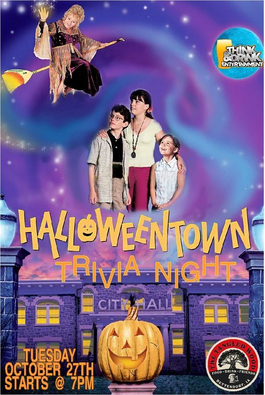 Halloweentown Trivia Night / The Tangled Wood / Tues Oct 27th, 27 October | Event in Bettendorf | AllEvents.in