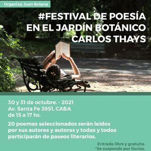 Festival de Poesa en el Jardn Botnico Carlos Thays