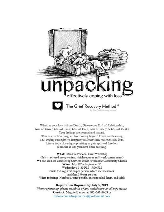 Unpacking Grief Workshop