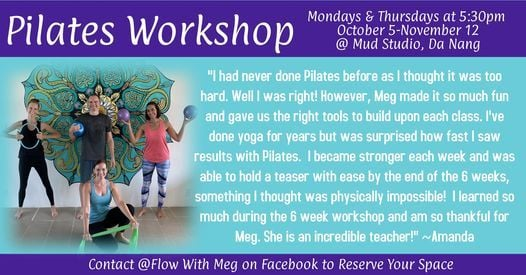 Pilates Fundamentals 6-week Workshop (Da Nang) | Event in Danang | AllEvents.in