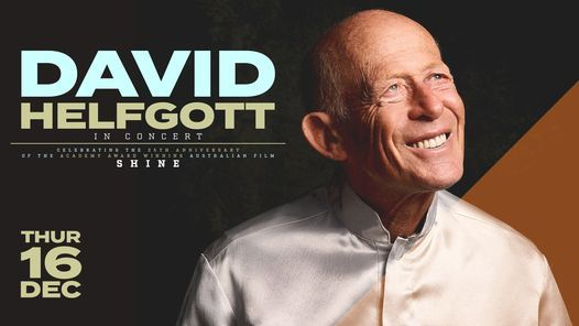 DAVID HELFGOTT IN CONCERT, 16 December | Event in Canberra | AllEvents.in