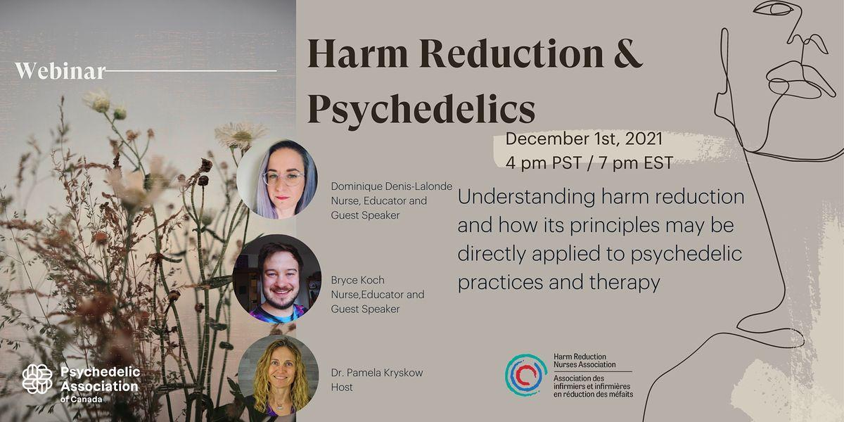 Harm Reduction Webinar - Canadian Psychedelic Association, 1 December | Online Event | AllEvents.in