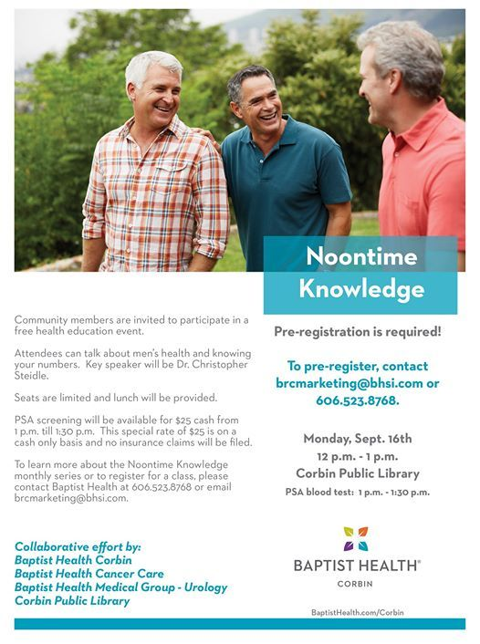 Noontime Knowledge at Baptist Health Corbin, Corbin
