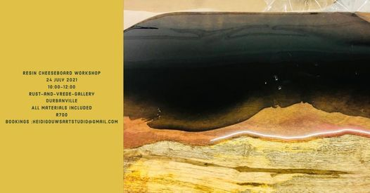 Resin Cheeseboard Workshop, 21 August | Event in Durbanville | AllEvents.in