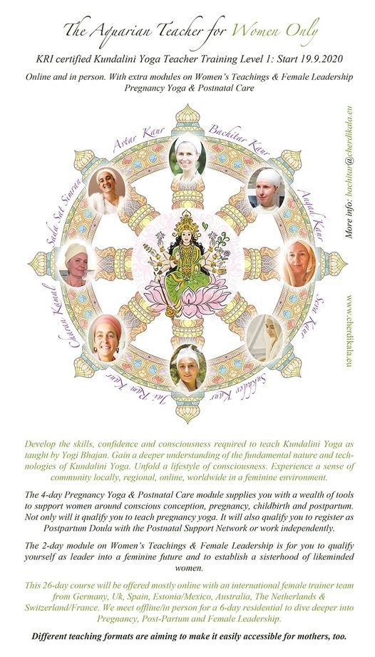 Kundalini Yoga Teacher Training Level 1 Women Only Mostly Online On Allevents In Online Events