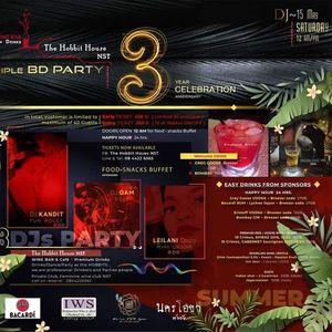 Triple BD Party 3 YEAR Celebration 2021